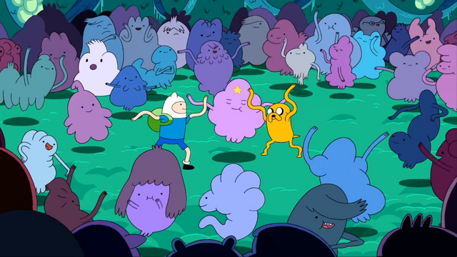 File:S1e2 finn lsp and jake dance.png