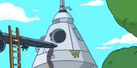 Banana Man's rocket