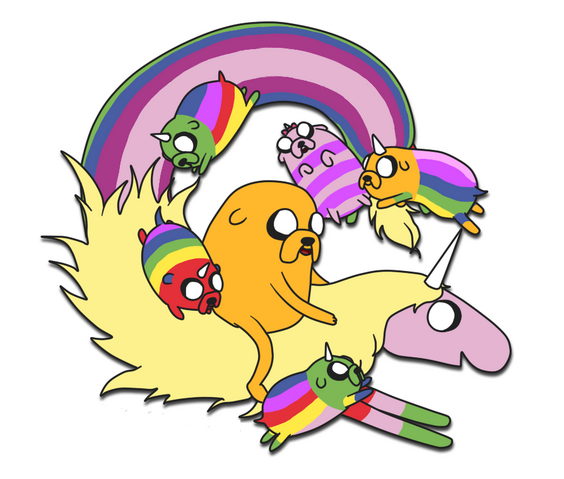 File:Jake lady rainicorn and puppies 1 by nyamas-d5cpybi.png