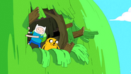S5e33 Finn and Jake looking out of Tree Fort