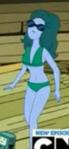 S5e20 bikini babe green hair
