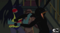 S5 e29 Marceline fighting a giant bird.PNG