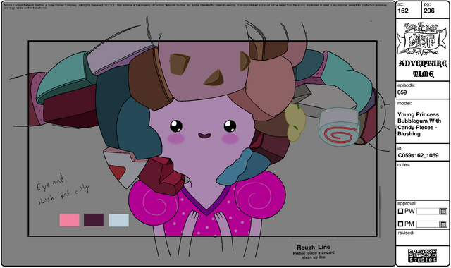 File:Modelsheet Young Princess Bubblegum with Candy Pieces - Blushing.png