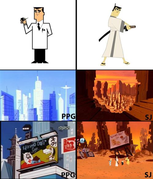 Professor Utonium = Samurai Jack