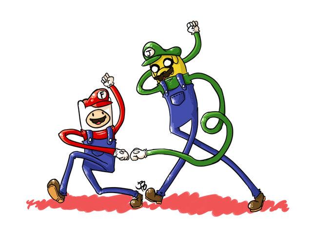 File:Finn Mario Jake Luigi potatogurl!.jpg