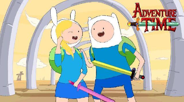 File:Finn and fionna meet.jpg