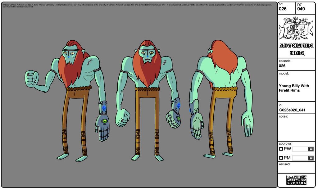 Design An Adventure Time Character : Image modelsheet youngbilly withfirelightrims g