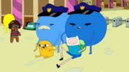 S5e25 Blueberry Cops arresting Finn and Jake