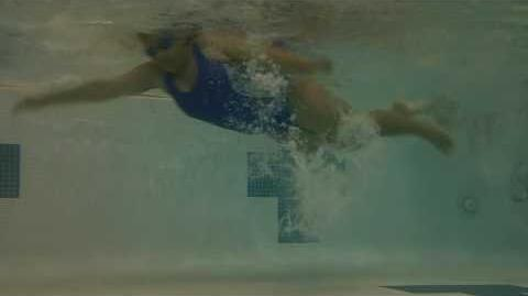 Underwater swimming, freestyle, Dreamers, left to right
