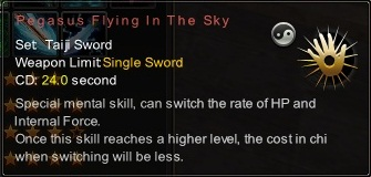 (Taiji Sword) Pegasus Flying In The Sky (Description)