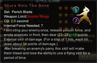 (Perish Blade) Shura Rots The Bone (Description)
