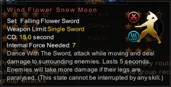 (Falling Flower Sword) Wind Flower Snow Moon (Description)