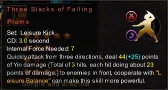 (Leisure Kick) Three Stacks of Falling Plums (Description)