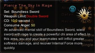 (Boundless Sword) Pierce The Sky In Rage (Description)
