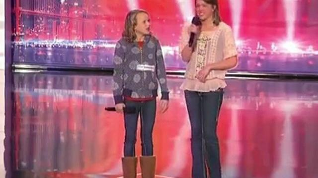 Christina and Ali, 13, 20 ~ America's Got Talent 2010, auditions Portland Day2