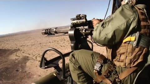 UH-1Y Huey Helicopter Aerial Gun Shoot - M134 minigun and GAU-21 machine gun AiirSource