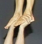 Stehen in den Händen
