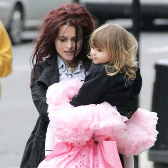 Photo of Helena Bonham Carter & her Daughter  Nell Burton