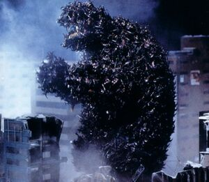 Gamera is swarmed by the Legion Soldiers.