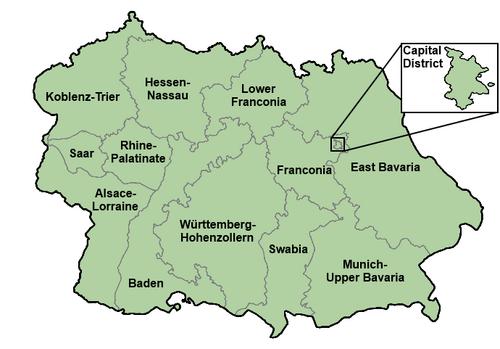 South German Administrative Districs