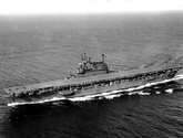 USS Enterprise in Puget Sound, 1945