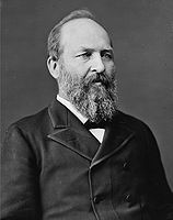 158px-James Abram Garfield, photo portrait seated