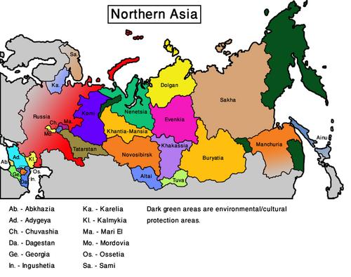 Map Northern Asia (VegWorld)