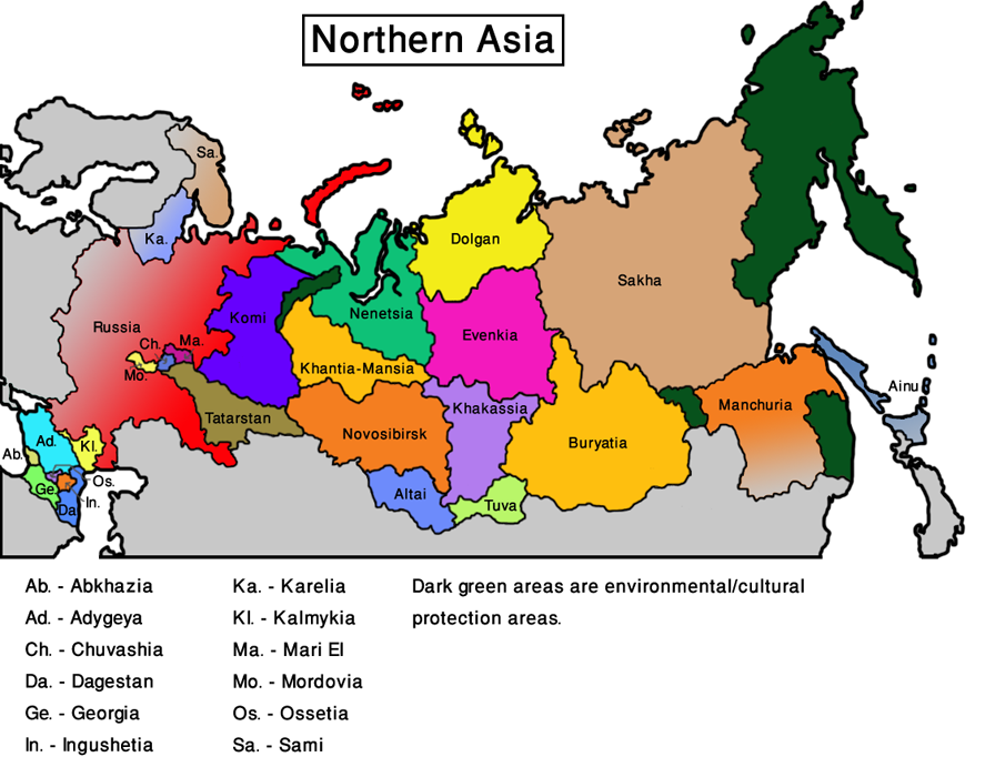 Maps Update 600420 Map of Central and Northern Asia hairstyles – Full Map of Asia