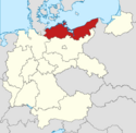 Locator map Pomerania in Germany (IM)