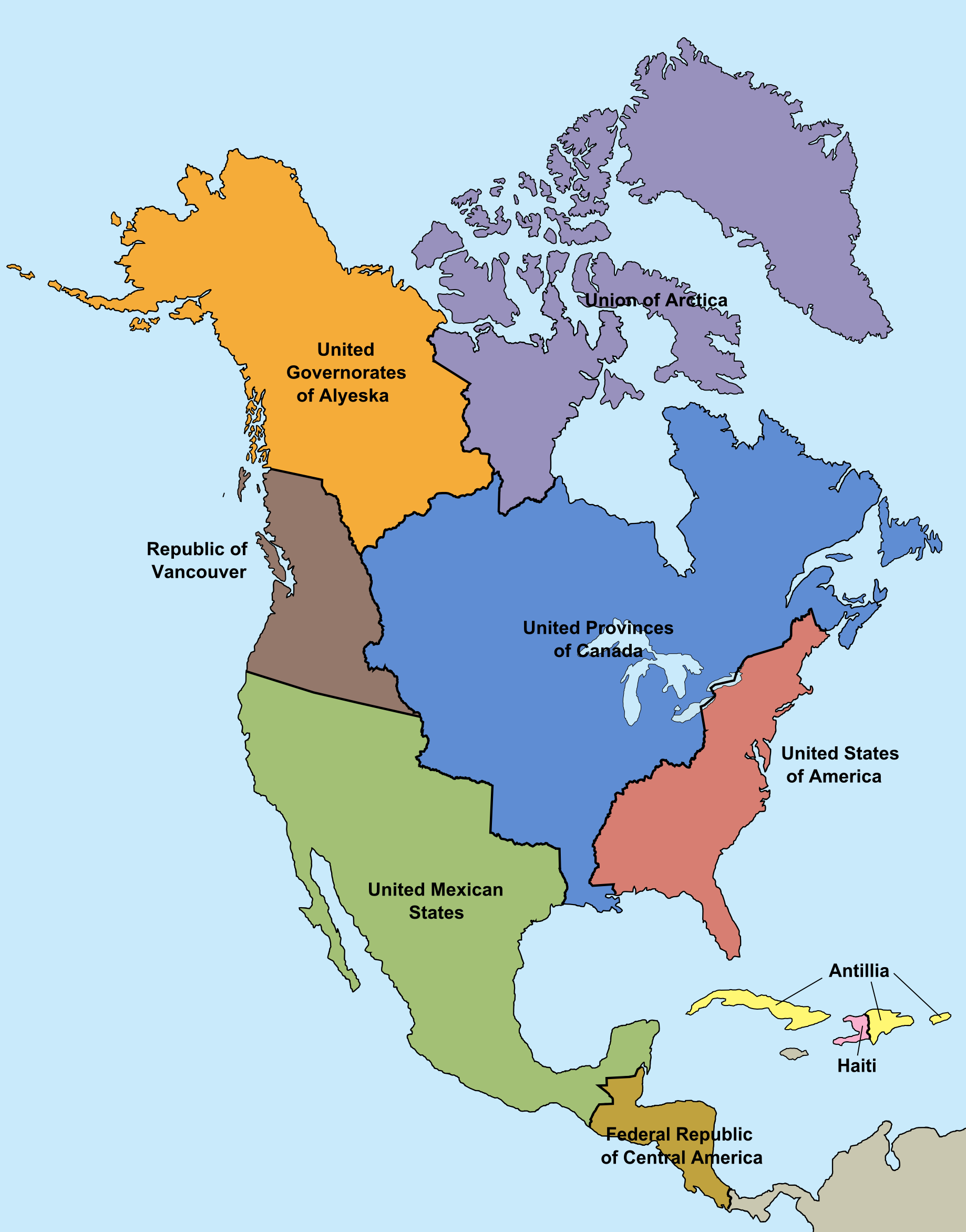 Image  Map of North America Montcalm Survivespng  Alternative