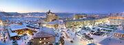 Vintervy över Kiruna stad