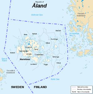 Aaland map