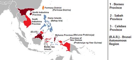 Subdivisions of the Philippine Empire (Alternity)
