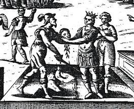 Morte di Corradino detail woodcut