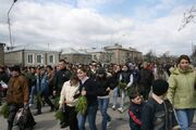 Palm Sunday procession in Tskhinvali 3