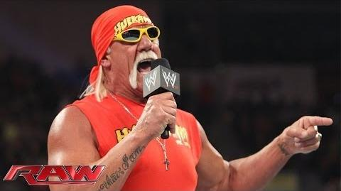 The immortal Hulk Hogan returns to Monday Night Raw-Hulk Hogan returns to the WWE.