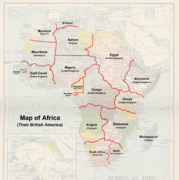Map of Africa (Their British America)