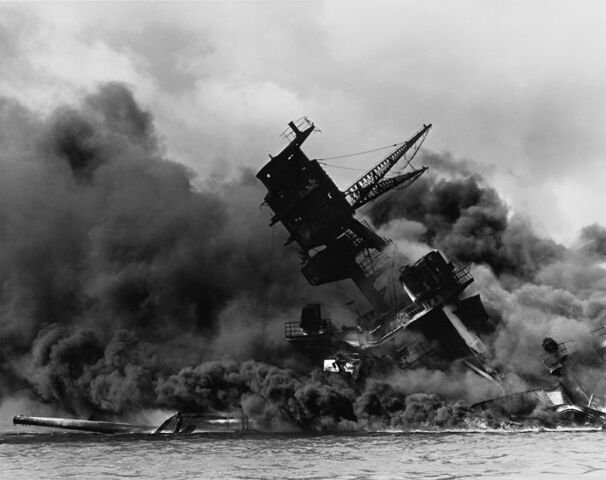 File:758px-The USS Arizona (BB-39) burning after the Japanese attack on Pearl Harbor - NARA 195617 - Edit.jpg