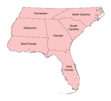 Map of Carolina (13 Fallen Stars)