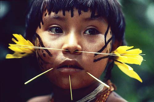 File:Yanomami portrait8(girl).jpg