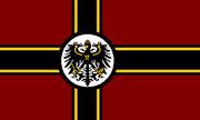 Burgundy cross flag