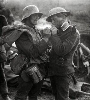 That WWI Feel. A German prisoner of war lights the 89fd60 3749215
