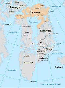 Map of Romanova