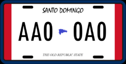 License plate of Santo Domingo (the Other Side)