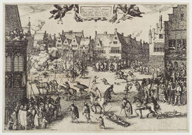 The execution of Guy Fawkes' (Guy Fawkes) by Claes (Nicolaes) Jansz Visscher