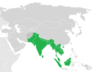Asia Map Plain