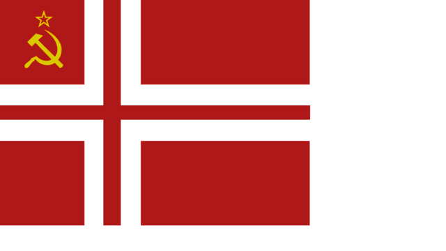 File:Communistic Norwegian People's Republic flag.png
