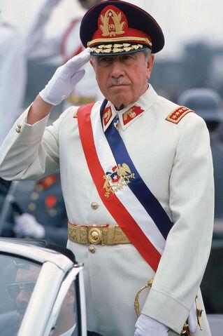 File:A. Pinochet con Banda Presidencial.jpg