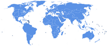 World map United Nations (Pax Columbia)