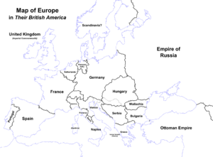 Map of Europe (Their British America)